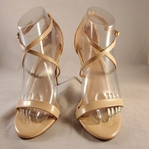 Beige Strappy High Heel Sandal shoes